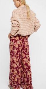 Rare free people Bali wildflower wide leg pants xs
